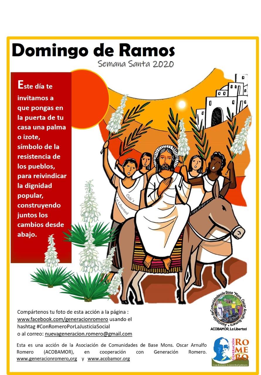 afiche Domingo de Ramos